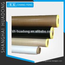 Tecido revestido em PTFE fibra de vidro, tem o mais baixo coeficiente de atrito conhecido