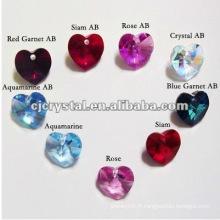 Diamant coeur, pendentif en cristal