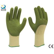 13G Полиэфирная латексная латексная перчатка 3/4 с покрытием, волновая отделка