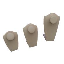 Guangzhou Manufacturer Supplying Beige PU Necklace Pendant Display Serie (NS-BN1-BN2-BN3)
