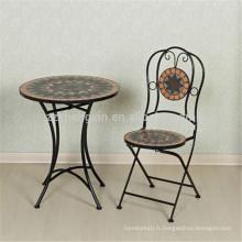 Mobilier de jardin mobilier table et chaise en mosaïque