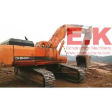 Excavatrice sur chenilles hydraulique Doosan d'occasion 2010 de 50ton (DH500LC-7)