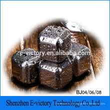 Alta qualidade em aço inoxidável cubo de gelo, cubo de gelo de aço inoxidável, pedra de uísque