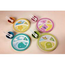 (BC-CS1076) Conjunto de utensílios de mesa de bambu para crianças