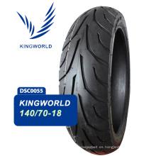 Neumático sin cámara para moto de alta velocidad 140 / 70-18
