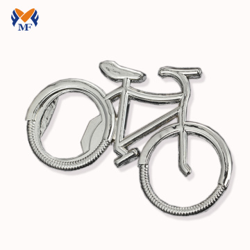 Metal Bike Keyring With Bottle Opener
