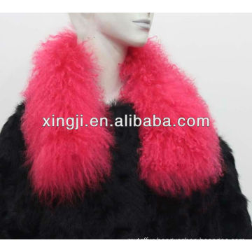 dyed color Mongolian sheep collar for jacket
