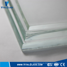 19mm de cristal templado de cristal claro de flotador con CE & ISO9001
