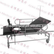 hospital stainless steel ambulance stretcher trolley
