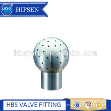 tanque sanitário de aço inoxidável 360 graus de limpeza fixo bola de pulverização aparafusada