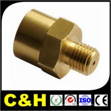 Fabrik Preis Hochpräzise CNC-Bearbeitung Verchromte Messing Rohrverschraubung mit ISO9001: 2008