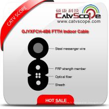 Chine Fournisseur de haute qualité Gjyxfch-4b6 FTTH intérieur fibre optique câble