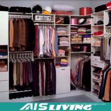 Promenade de laque blanche dans le placard des armoires (AIS-W358)