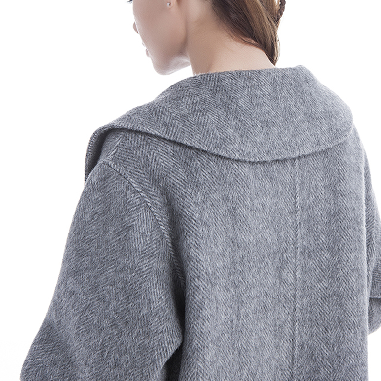 New Model Grey Cashmere Coat