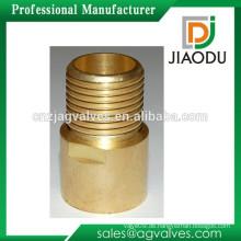 Hohe qulity und niedrigen Preis Zhejiang Herstellung geschmiedet Original Messing Farbe männlich Gewinde npt Messing Nippel Rohrverschraubungen