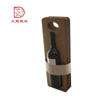 Custom size cheap price corrugated single wine box with handle