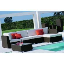 Jardim de plástico móveis conjunto de sofá de revestimento em pó
