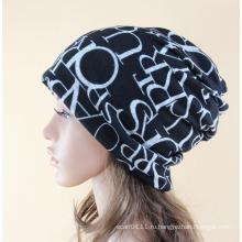 Леди мода письма печатаются хлопка трикотажные теплый Лыжный Hat (YKY3131)