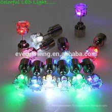20 * 7mm 7 couleurs led boucles d'oreilles lumière