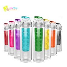 Botella infusor de fruta Tritan botella de agua del café BPA 900ml libre para deportes y al aire libre