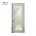 Neuestes Design mit einer einzigen Flügeltür aus Holz mit Glas