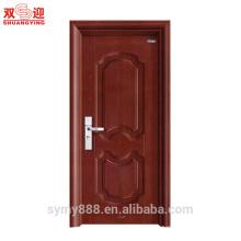 Feuille en acier de porte intérieure en acier de conception de feuille de gril solide de conception sud-asiatique