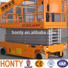 Mini elevador de tijera para exteriores eléctrico de 8 m / plataforma con elevador de tijera a batería