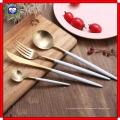18 bis 10 Sharp Messer und Gabel Löffel Griff Schwarz Gold L Edelstahl Geschirr High-Grade Western Messer und Gabel