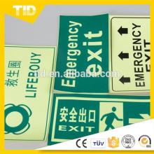 exit sign, photo luminescent film