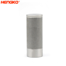 custom wholesale stainless steel sintered porous cartridge filter candle filter for multipurpose liquid and air filtering