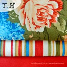 Tela de punto de punto de nylon con flor de impresión