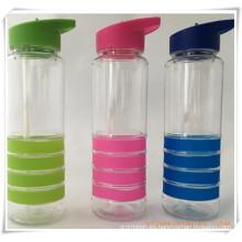 Botella de agua de Straw Cup para regalos promocionales (HA09035)