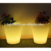 Floreros de plástico y plantas macetas/led rama flor florero luces/encendido pequeños floreros
