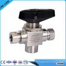Socket weld t port crane ball valves