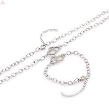 Chunky pulseiras e colares conjuntos de jóias de estilo de moda preço de atacado