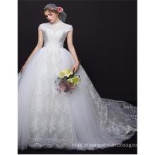 Custom Made 2017 High Quality High Collar Estilo Chinês Design vestido de noiva vestido de noiva
