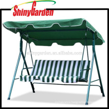 3 Person Seater Green Patio Large Outdoor Garden Swing Canopy With Weather Resistant Seat