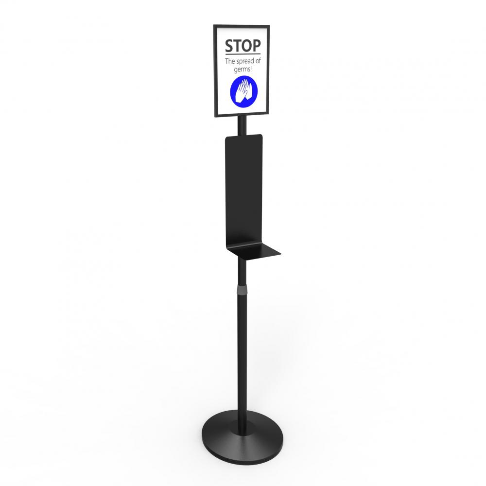 Logo Changable Automatic Hand Sanitizer Dispenser Holder With Steady Base 3