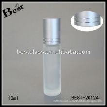 Крен 10ml на матовое стекло духи бутылки бесплатный образец, пустой дешевой цене ролик мяч стеклянная бутылка в Китае