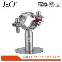 Suporte sanitário de tubo de aço inoxidável com placa
