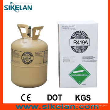 Not Cloudy, Colorless Liquid R419A Refrigerant Gas