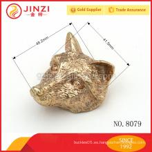 Especial de metal de diseño de los accesorios de metal cabeza de los animales