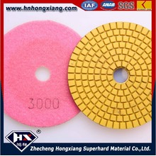 China Factory Direct Sale 100mm Enduit de résine Granite Floor Water Polishing Pads