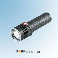 Ipx6 350lumens CREE Xm-L U2 Rechargeable LED Torch (POPPAS-F22)