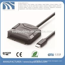 Type-C vers le câble SATA USB 3.1 15 + câble adaptateur 7 broches pour hdd 2.5 '' 3.5 ''