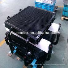 Intercambiador de calor de aleta de aluminio soldado de alto rendimiento para grúas