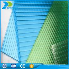 Panel de policarbonato translúcido de policarbonato decorativo decorativo resistente al fuego ligero