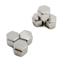 Wholesale hexagon Shape 304 Stainless Steel Ice Cubes Stone cooling drinks