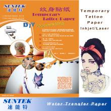 Autocollant de tatouage de bébé tatouage temporaire papier coloré