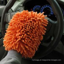 Atacado personalizado microfiberglove automóvel / chenille mitt wash mitt